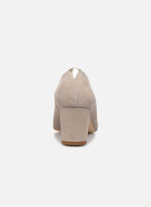 Zapatos de tacón Parallèle LIBBA Beige vista lateral derecha