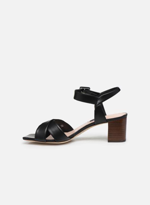 Sandales et nu-pieds Parallèle PAKANDA Noir vue face
