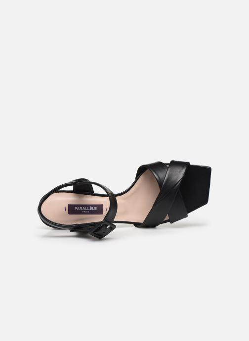 Sandales et nu-pieds Parallèle PAKANDA Noir vue gauche