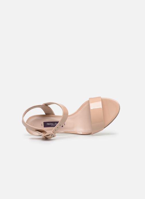 Sandales et nu-pieds Parallèle POMA Beige vue gauche