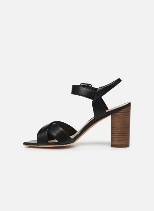 Sandales et nu-pieds Parallèle XAKANDA Noir vue face