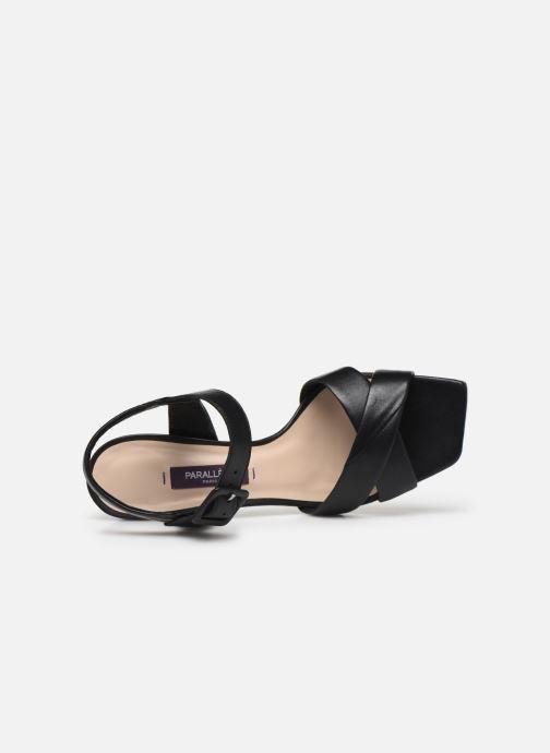 Sandales et nu-pieds Parallèle XAKANDA Noir vue gauche