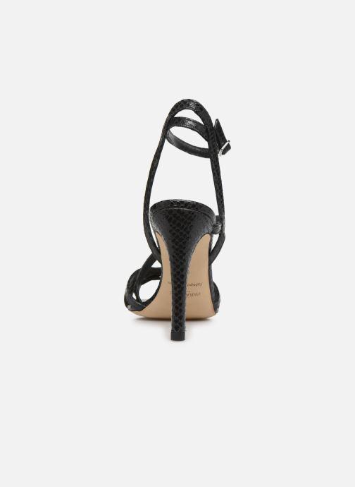 Sandales et nu-pieds Parallèle YADUA Noir vue droite