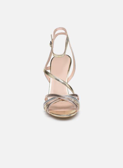 Sandales et nu-pieds Parallèle YADUA Or et bronze vue portées chaussures