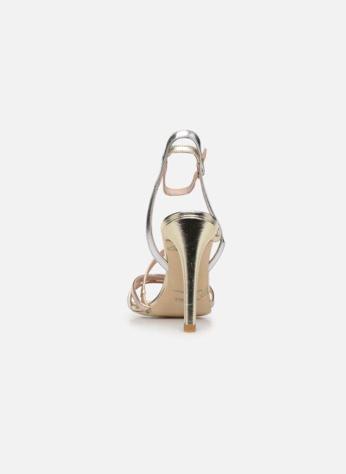 Sandales et nu-pieds Parallèle YADUA Or et bronze vue droite