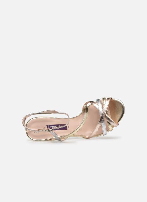 Sandales et nu-pieds Parallèle YADUA Or et bronze vue gauche