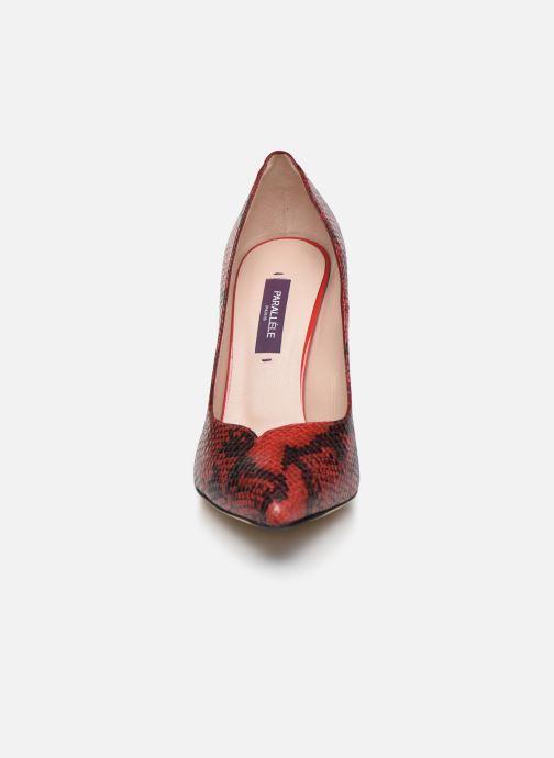 Zapatos de tacón Parallèle ZIRTA Rojo vista del modelo
