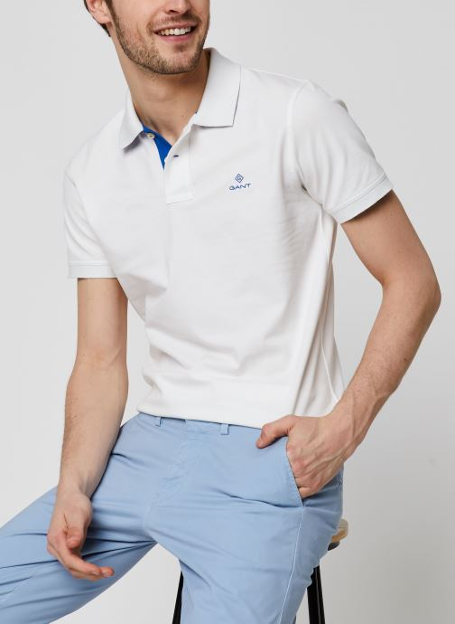 Vêtements Accessoires Contrast Collar Pique SS Rugger