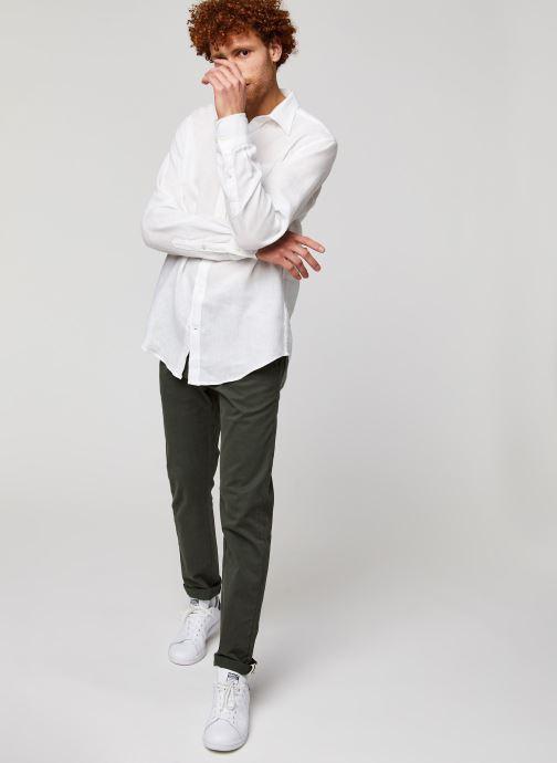 GANT Chemise - The Linen Stripe Regularular (Blanc) - Vêtements (428890)