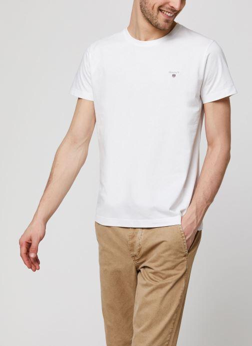 Vêtements GANT The Original SS T-Shirt Blanc vue détail/paire