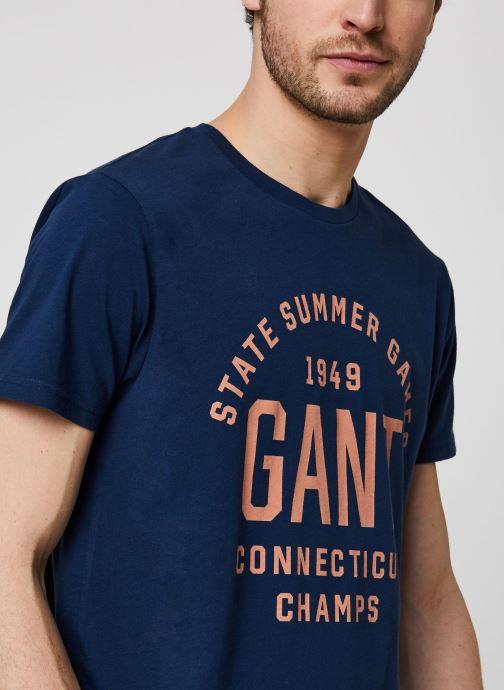 GANT Summer Graphic SS T-shirt (Bleu) - Vêtements chez Sarenza (428928)