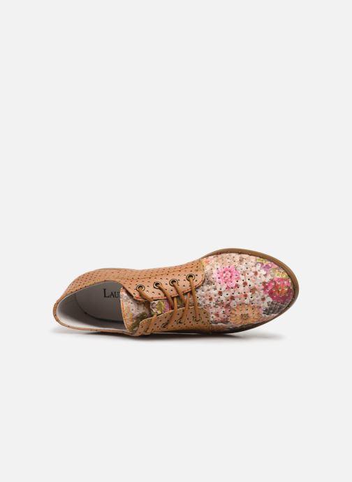 Zapatos con cordones Laura Vita CLCAUDIEO 019 Marrón vista lateral izquierda