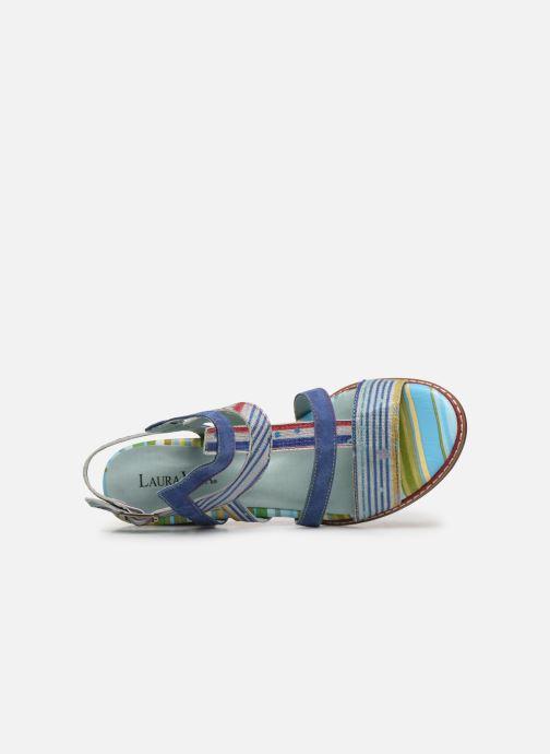 Sandales et nu-pieds Laura Vita DIEGO 03 Bleu vue gauche