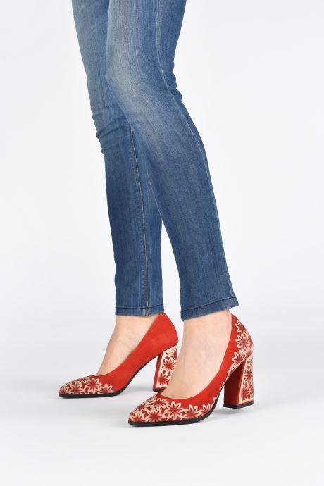 Zapatos de tacón Laura Vita EDCIKAO 12 Rojo vista de abajo