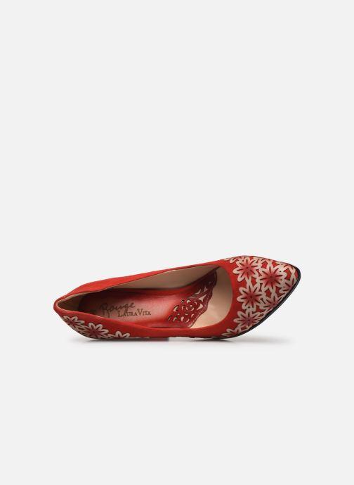 Zapatos de tacón Laura Vita EDCIKAO 12 Rojo vista lateral izquierda