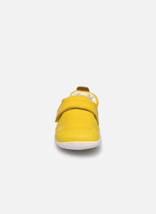 Chaussons Bobux Xplorer Summer Jaune vue portées chaussures