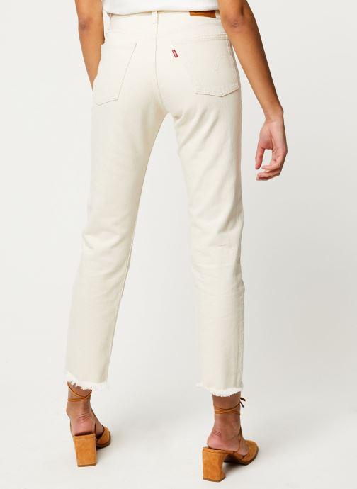 Vêtements Levi's Jean droit 501® Crop Beige vue portées chaussures