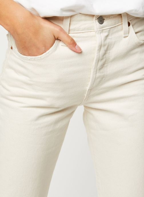 Vêtements Levi's Jean droit 501® Crop Beige vue face