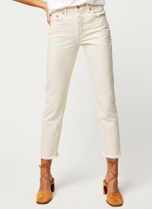 Vêtements Levi's Jean droit 501® Crop Beige vue détail/paire
