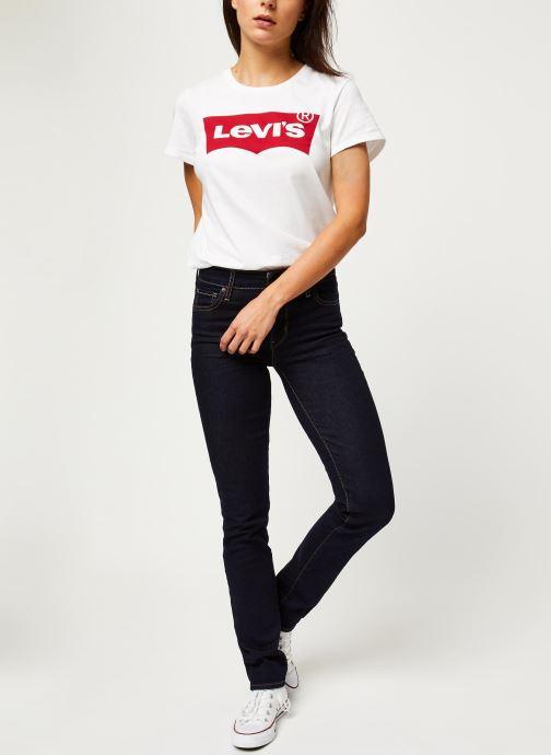 Vêtements Levi's Jean slim 712 Slim Bleu vue bas / vue portée sac