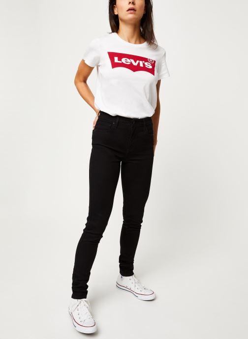 Vêtements Levi's Jean slim 721 High Rise Skinny Noir vue bas / vue portée sac