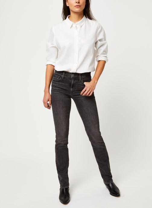 Vêtements Levi's Jean slim 724 High Rise Straight Gris vue bas / vue portée sac