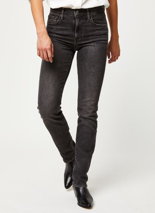 Vêtements Levi's Jean slim 724 High Rise Straight Gris vue détail/paire