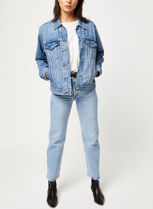 Vêtements Levi's Veste en jean Ex-Boyfriend Trucker Bleu vue bas / vue portée sac