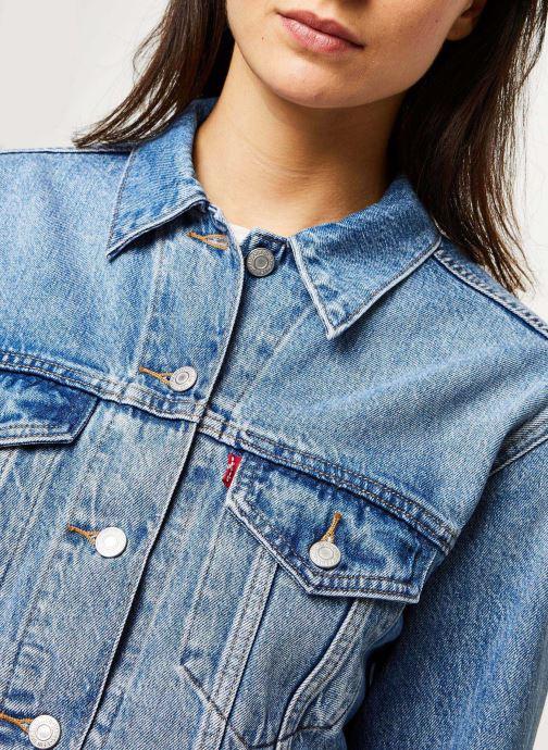 Vêtements Levi's Veste en jean Ex-Boyfriend Trucker Bleu vue face
