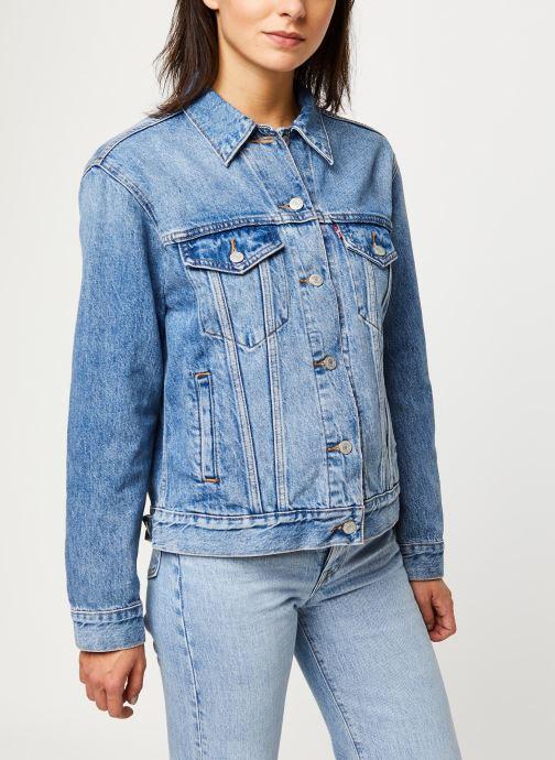 Vêtements Levi's Veste en jean Ex-Boyfriend Trucker Bleu vue droite