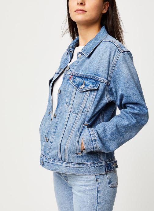 Vêtements Levi's Veste en jean Ex-Boyfriend Trucker Bleu vue détail/paire