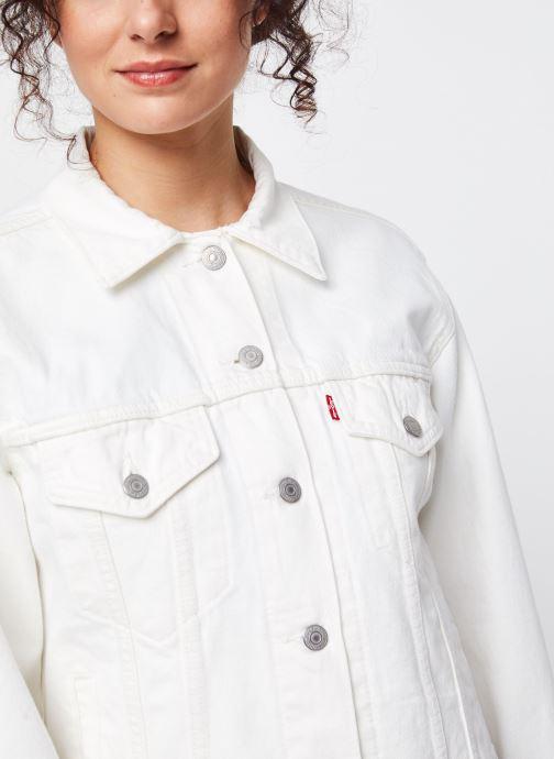 Vêtements Levi's Veste en jean Ex-Boyfriend Trucker Blanc vue face