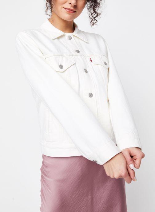 Vêtements Levi's Veste en jean Ex-Boyfriend Trucker Blanc vue droite