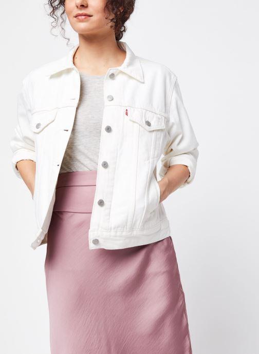 Vêtements Levi's Veste en jean Ex-Boyfriend Trucker Blanc vue détail/paire