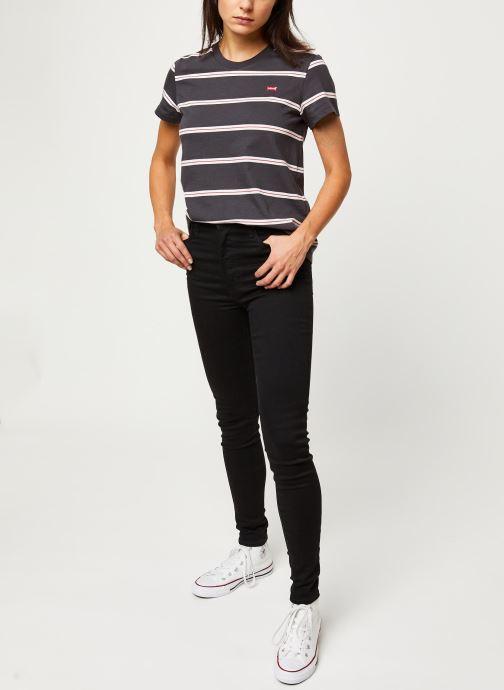 Vêtements Levi's Jean skinny Mile High Super Skinny Noir vue bas / vue portée sac
