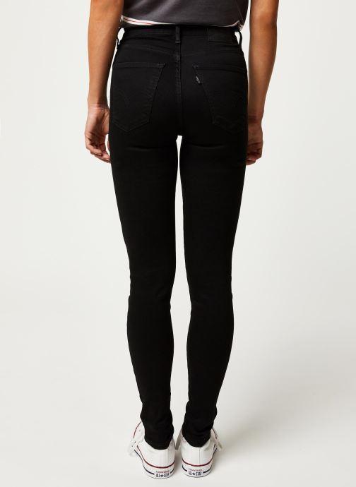Vêtements Levi's Jean skinny Mile High Super Skinny Noir vue portées chaussures