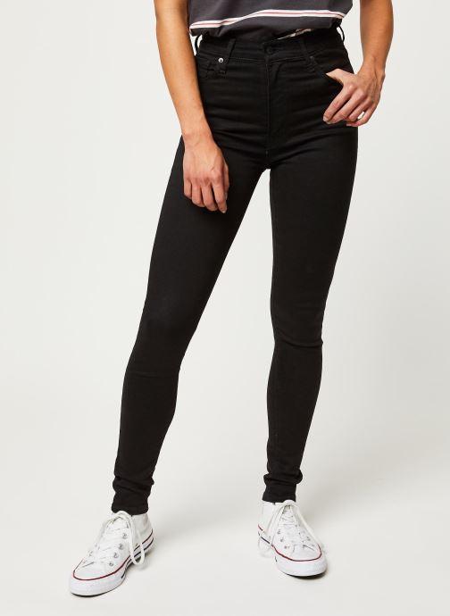 Kleding Levi's Jean skinny Mile High Super Skinny Zwart detail
