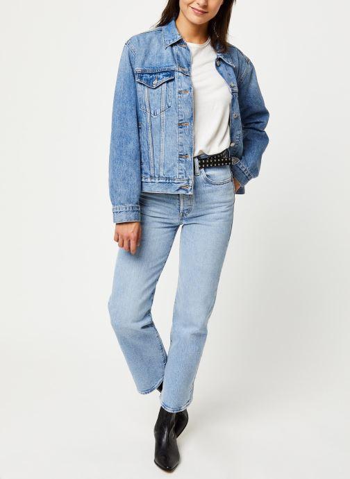 Vêtements Levi's Jean droit Ribcage Straight Ankle Bleu vue bas / vue portée sac