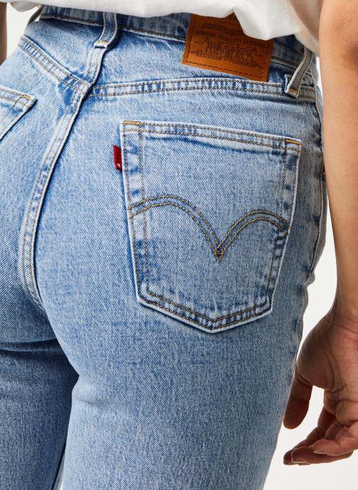 Vêtements Levi's Jean droit Ribcage Straight Ankle Bleu vue face