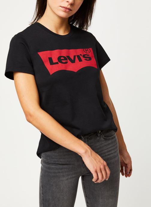 Vêtements Levi's T-shirt The Perfect Tee Noir vue détail/paire