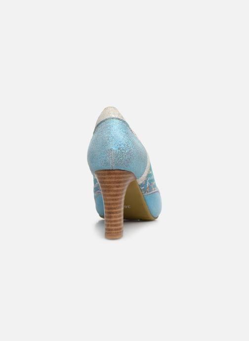Zapatos de tacón Laura Vita Alcbaneo 56 Azul vista lateral derecha