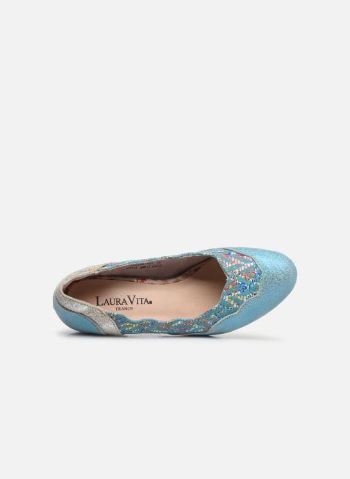 Zapatos de tacón Laura Vita Alcbaneo 56 Azul vista lateral izquierda