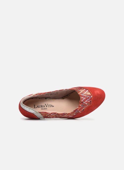 Zapatos de tacón Laura Vita Alcbaneo 56 Rojo vista lateral izquierda