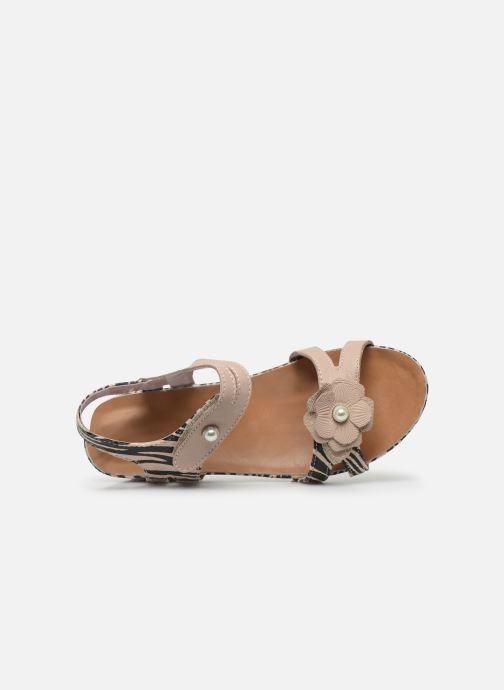 Sandales et nu-pieds Laura Vita Beclindao 02 Beige vue gauche