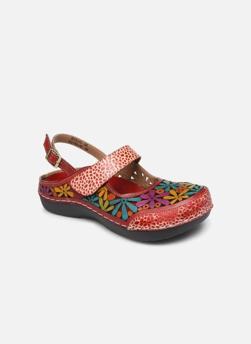 Sandales et nu-pieds Laura Vita Bicllyo 04 Rouge vue détail/paire