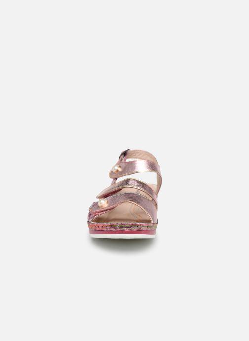 Sandali e scarpe aperte Laura Vita Brcuelo 06 Rosa modello indossato