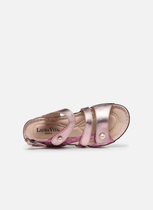 Sandales et nu-pieds Laura Vita Brcuelo 06 Rose vue gauche