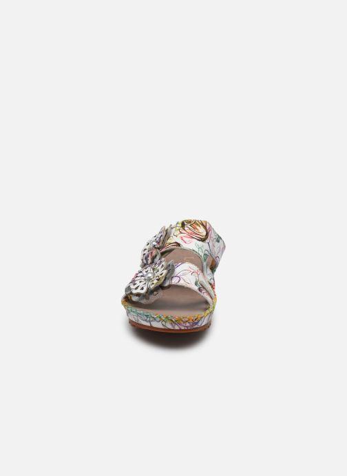 Mules et sabots Laura Vita Brcyano 041 Blanc vue portées chaussures