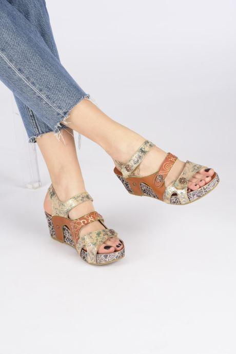 Sandales et nu-pieds Laura Vita Facdiao 12 Marron vue bas / vue portée sac