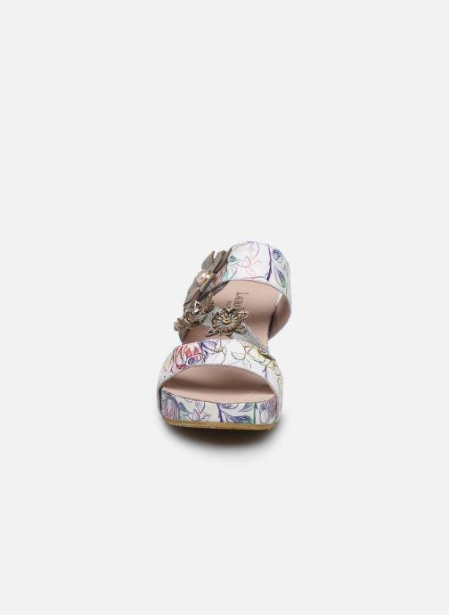 Mules et sabots Laura Vita Facdio 26 Blanc vue portées chaussures